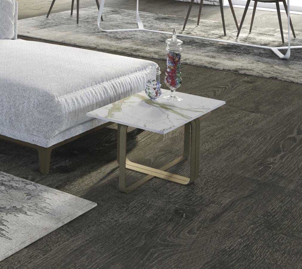Dede, Modular coffee table with iron base