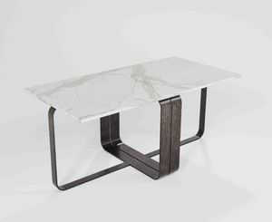 Dede, Modular coffee table with iron base