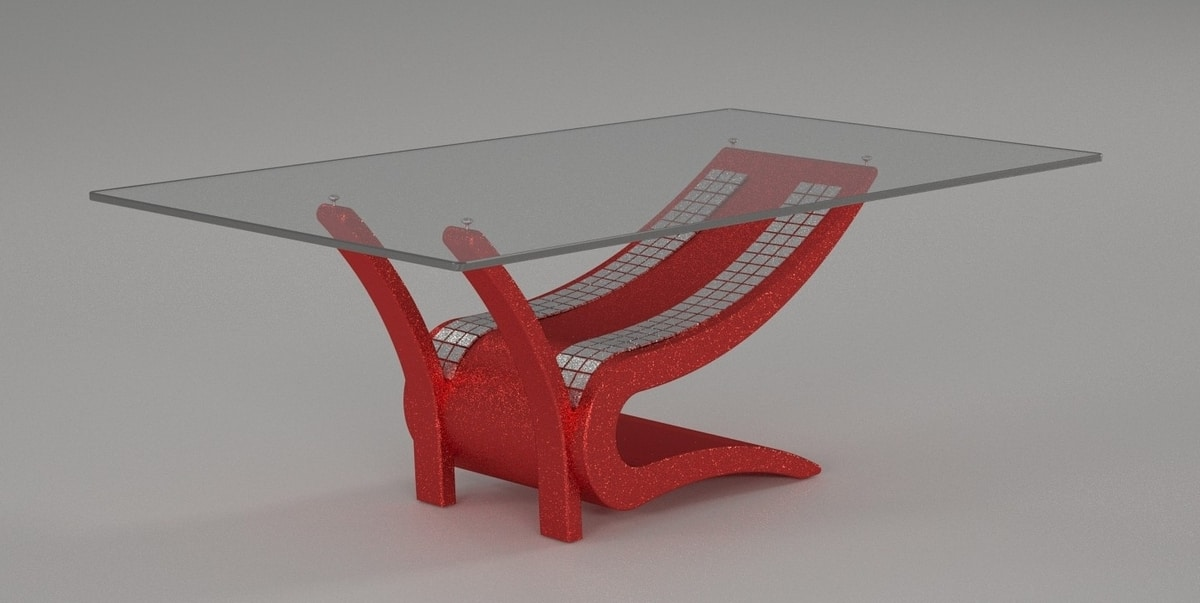 Dioniso, Coffee table with glass top