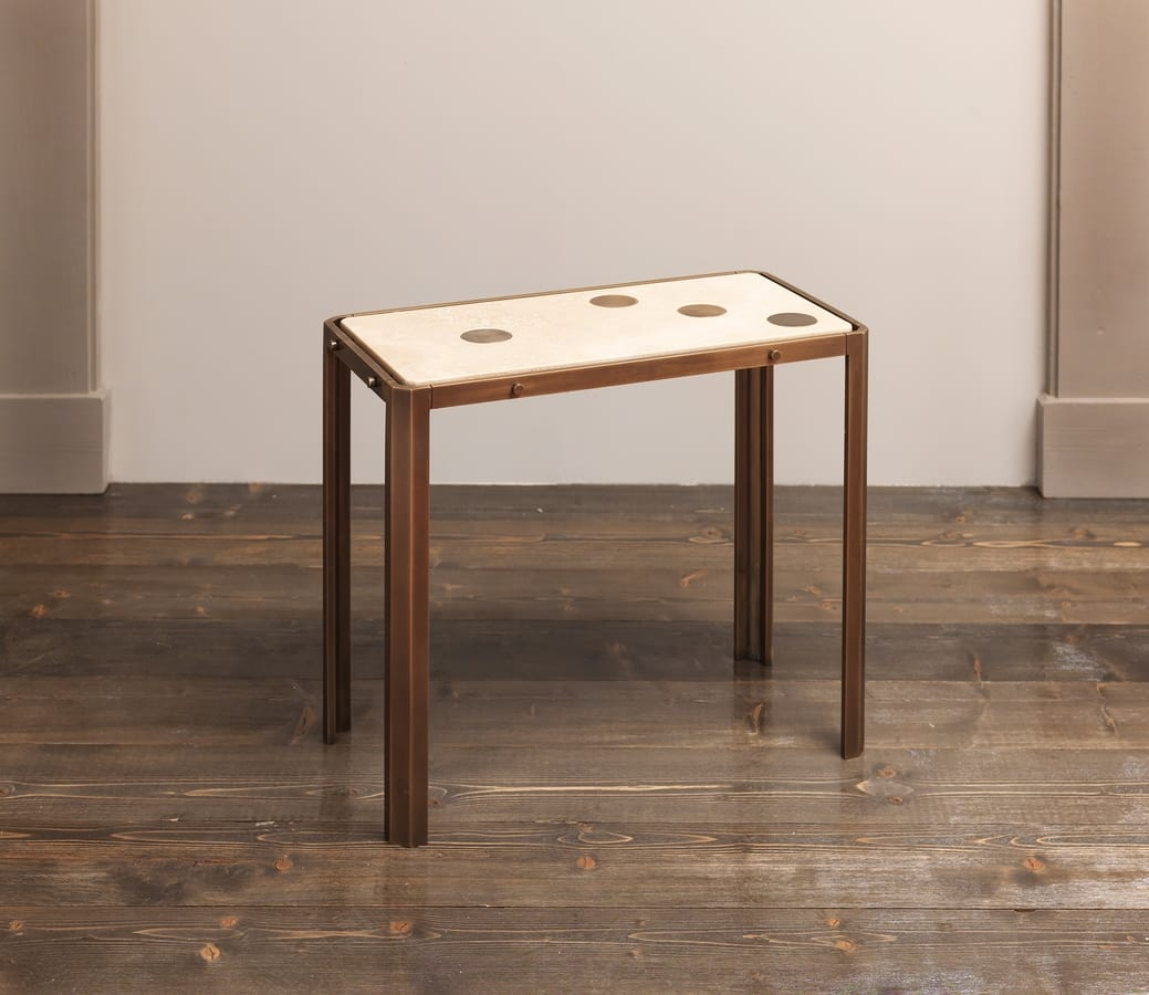 DOMINO HF2076CT, Wooden and brass tables