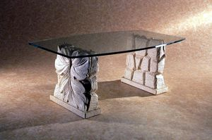 Drake, Coffee table with double stone base