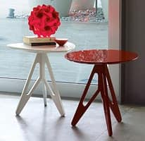 Easy, Coffee table in lacquered wood for home and bars