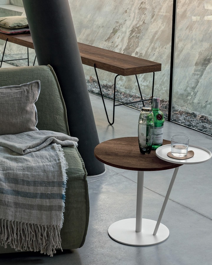 Eclisse, Side table with two round tops