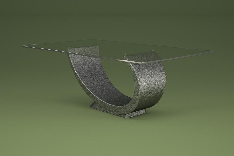 Elysium, Coffee table with base in marble agglomerate