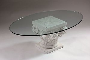 Erato, Classic coffee table with stone capital