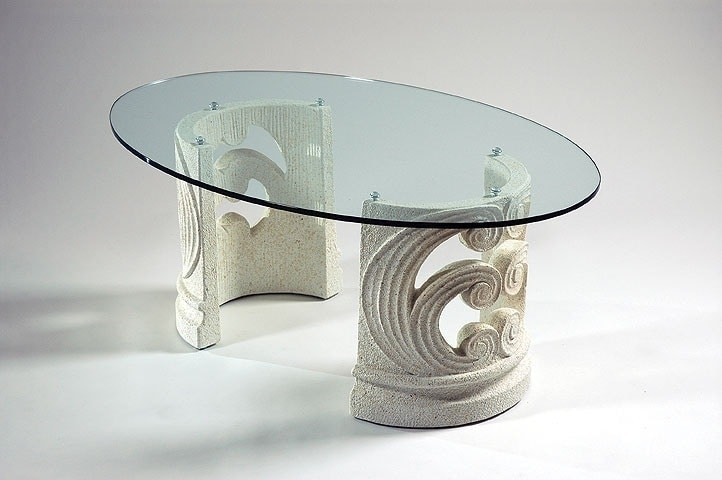 Classic Coffee Table With Stone Base Idfdesign
