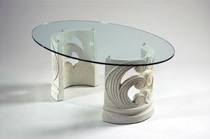 Eros, Classic coffee table with stone base