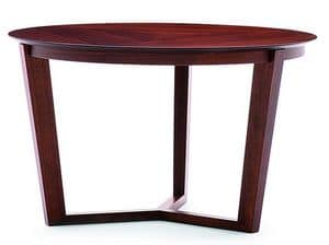 Flen 903 - 904, Round coffee table, solid beech frame, beech or marble top