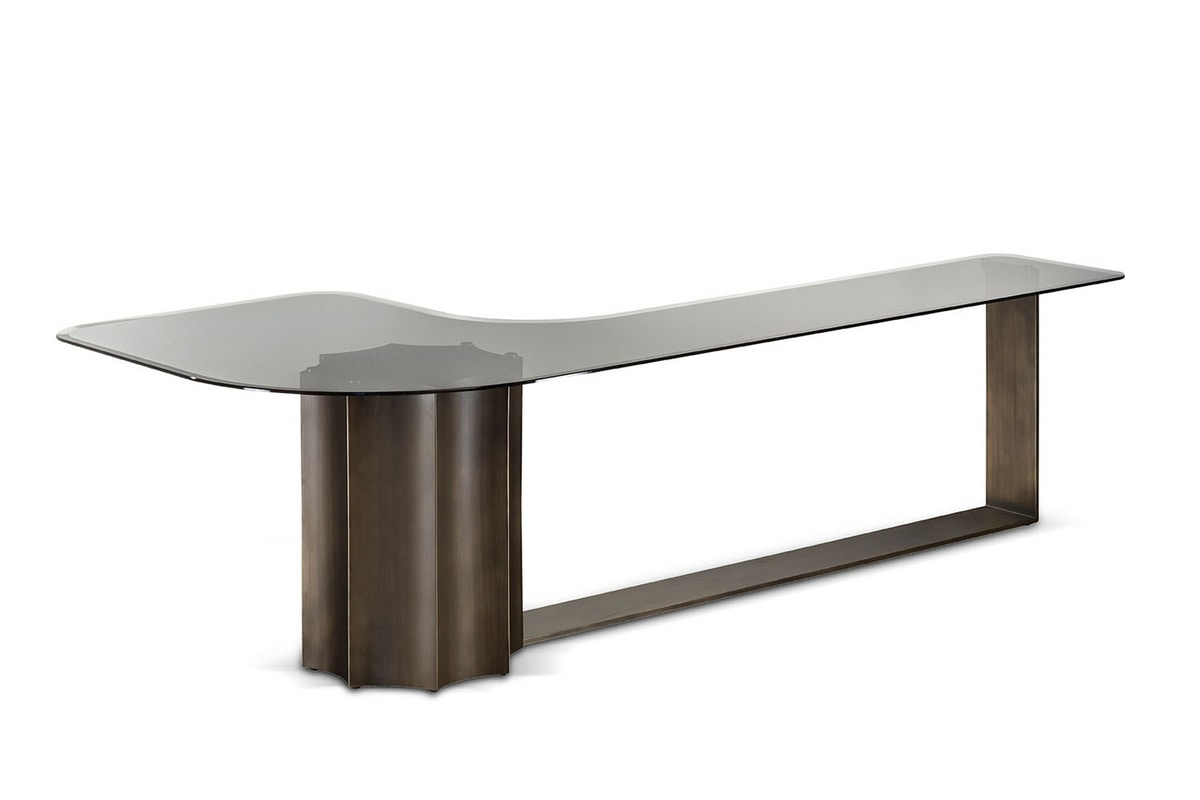 Floria side table, Side table with glass top