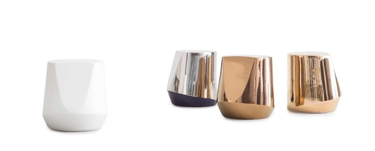 Haik, Side table made of exclusive ipergres molded ceramic