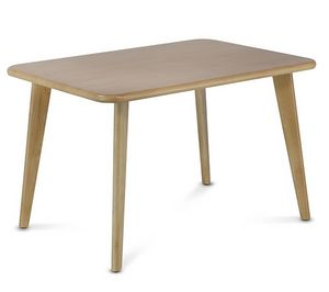 HIRO 1473, Rectangular wooden coffee table