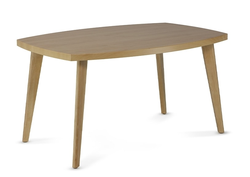 HIRO 1476, Wooden coffee table with bevelled edges