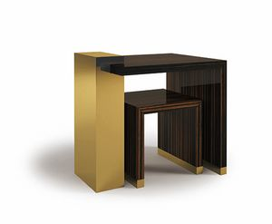 Hopper, Small tables in ebony and brass