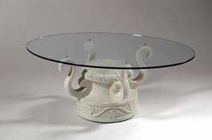 Ivan, Coffee table with decorated stone base