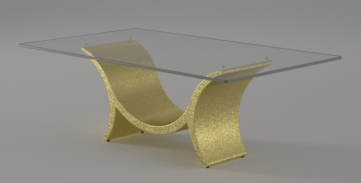 Kevin, Glass and stone table