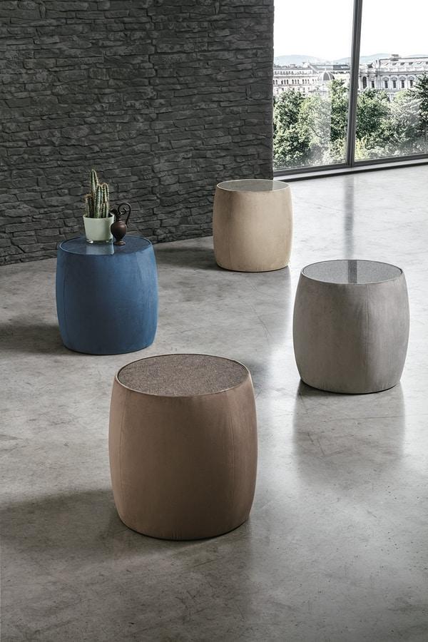 LEPANTO PF609, Upholstered cylindrical pouf
