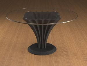 Liko, Coffee table with round glass top