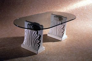 Loko, Stone and glass coffee table