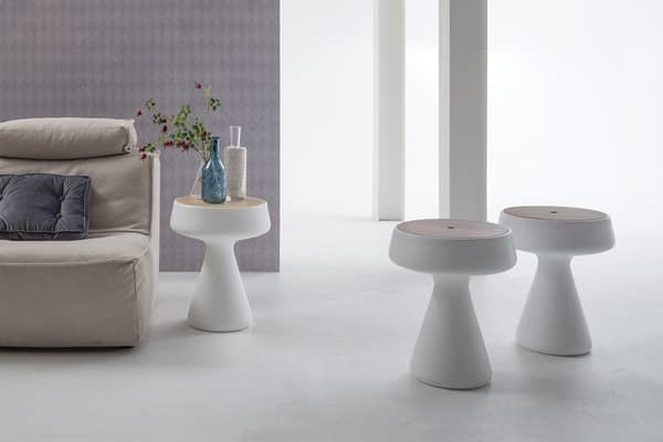 MAKI, Plastic side table with storage
