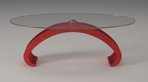 Mantus, Coffee table with glass top