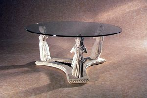 Minerva, Coffee table with stone statues
