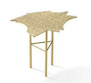 Ninfee Coffee Tables, Brass side table
