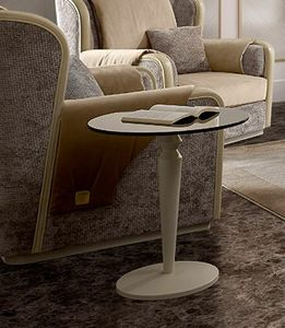 Oliver Art. OL16/55, Small table with round top in bronzed glass