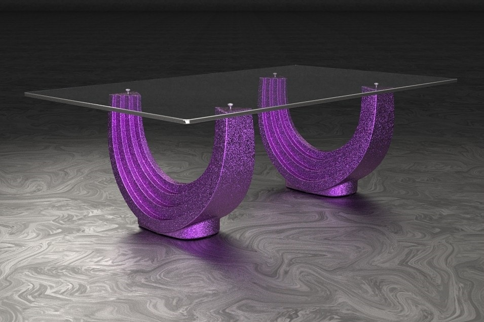 Orione, Coffee table with double arched base