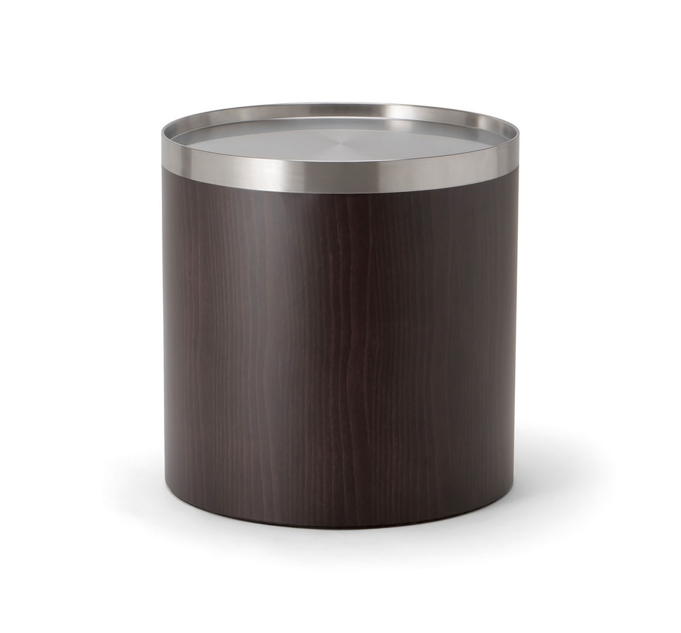 OSLO COFFEE TABLE 086 H45, Round coffee table in wood and metal