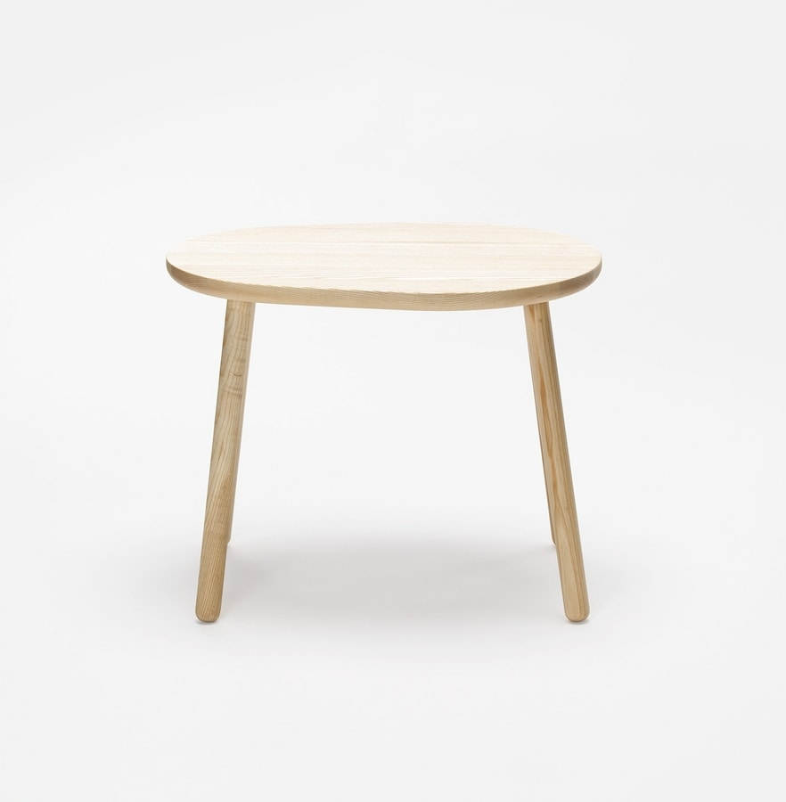 Pebble side table, Wooden side table
