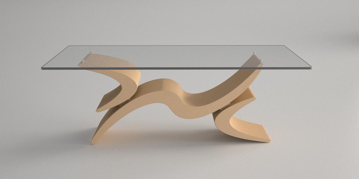 Pegaso, Coffee table with stone base