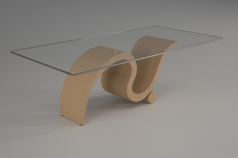 Perseo, Coffee table with rectangular glass top