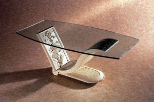 Polifemo, Coffee table with decorated stone base