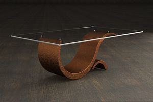 Prince, Stone and glass coffee table