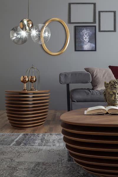 REA, Wooden small and side table for living room