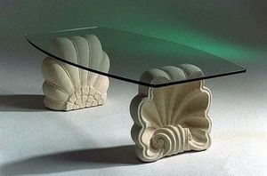 Sedna, Stone table with shell base