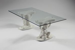 Sileno, Coffee table with stone base