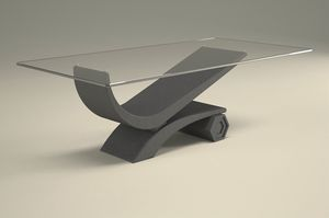 Silvio, Graphite finish coffee table