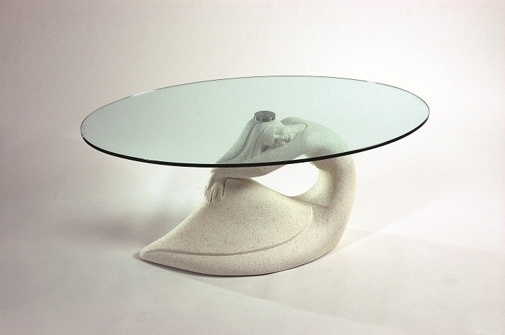 Siren, Coffee table with siren-shaped base