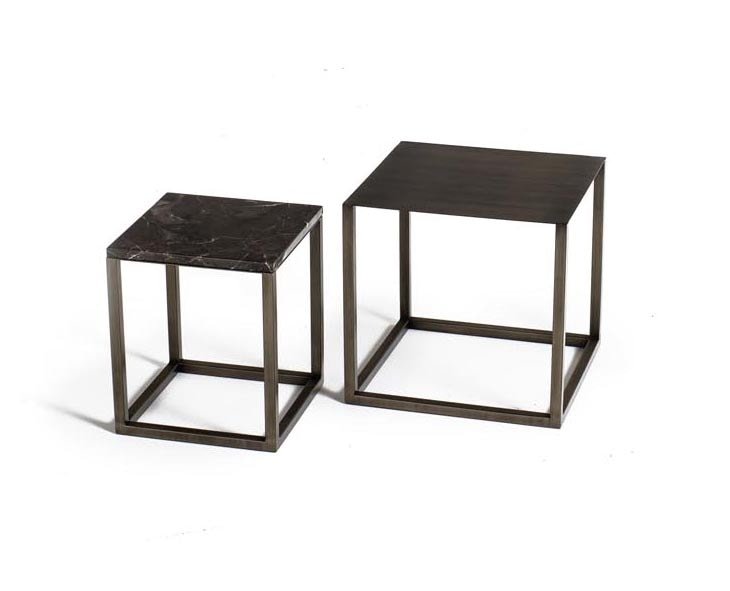 Square Less, Small tables with metal base