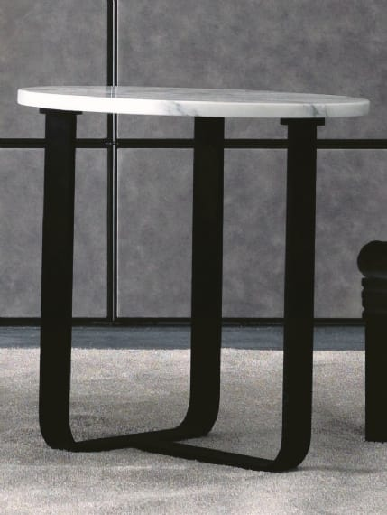 Tiago Art. 118-M, Modern side table with round top