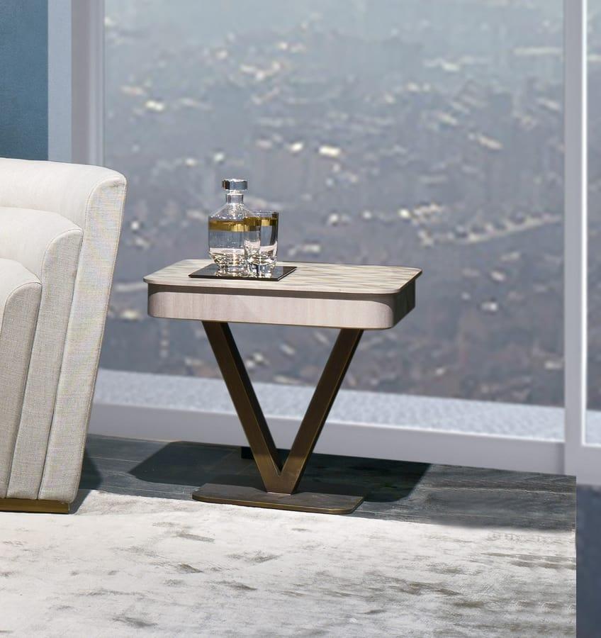 TL65 Viktoria small table, Square wooden coffee table