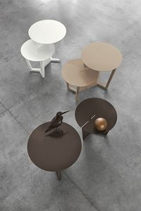 TOWER TL522, Metal coffee tables with round tops