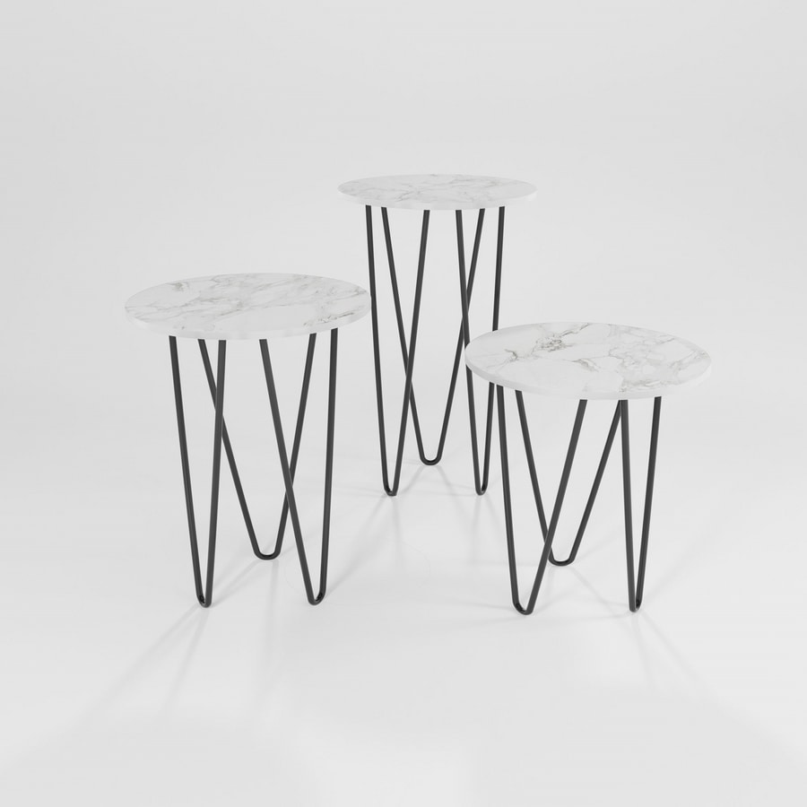 Trittico, Iron tables with round top