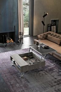 UP TL536, Laminate coffee table with lifting tray