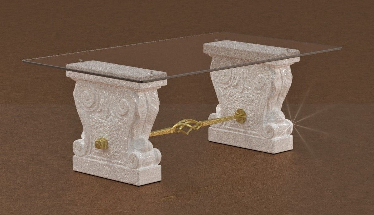 Valmarana, Stone and glass coffee table
