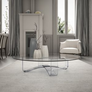 Velar 64 round, Round glass coffee table