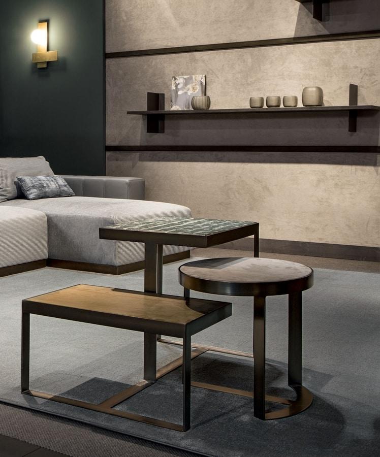 Venezia coffee table, Coffee tables in metal