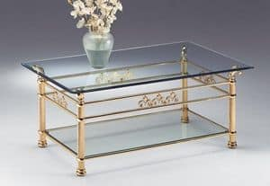 VIVALDI 1064, Table for the center hall, in polished brass, for living room