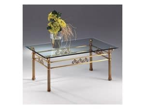 VIVALDI 1066, Coffee table in glass and metal, for fine living room